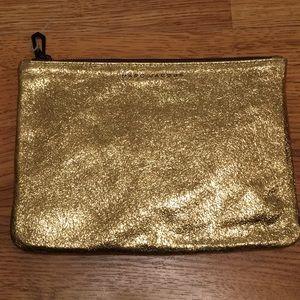 NWOT Marc Jacobs Gold Makeup Clutch